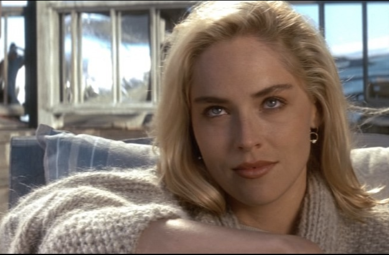 sexy thrillers, erotic thrillers, 90s thrillers, Catherine Tramell, sharon stone, Basic Instinct, thrillers streaming now